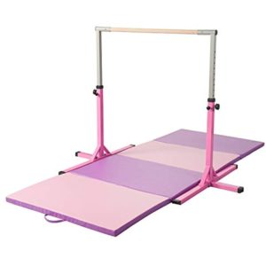 Safly Adjustable HorizontalGymnastics Bar for Kids for Home Using