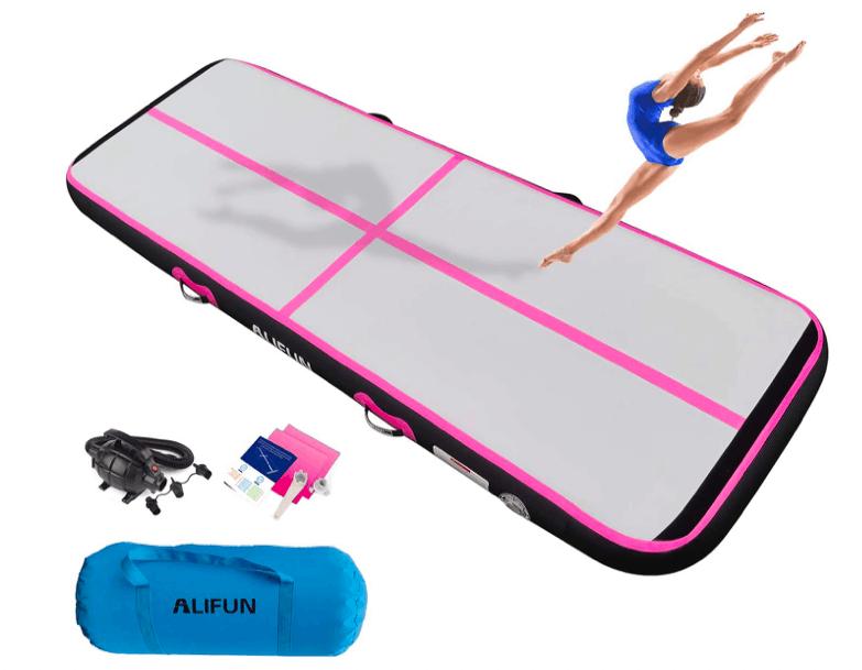 Alifun inflatable tumbling track mat