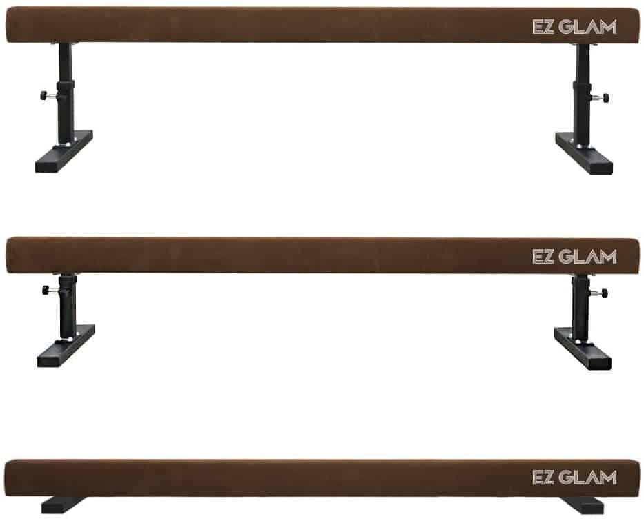 EZ GLAM Gymnastics Adjustable Balance Beam