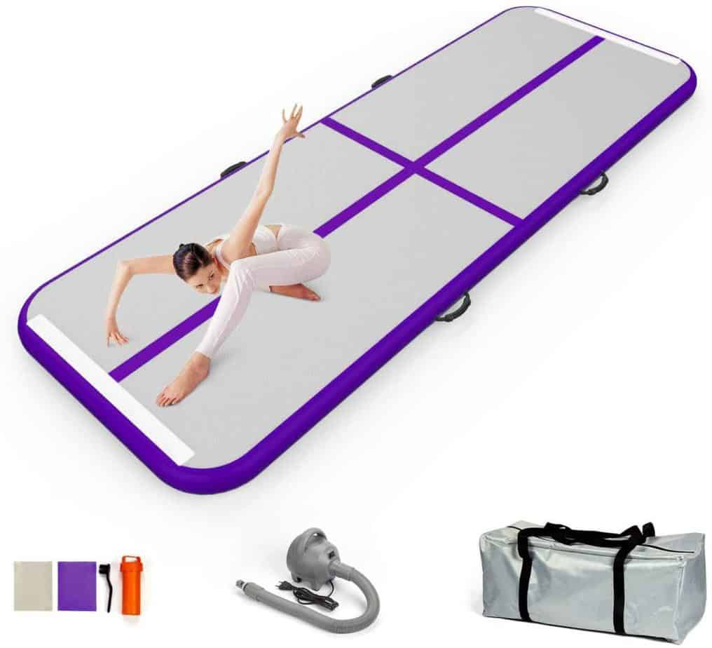 EZ GLAM Inflatable Tumbling Track Mat