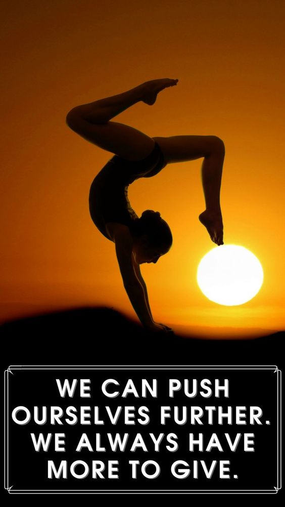 We can push ourselves further. We always have more to give.