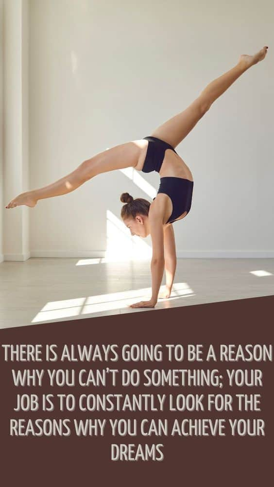 There is always going to be a reason why you can't do...