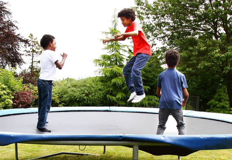 Toddlers On Trampolines